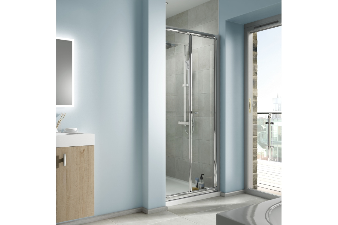 iflo Edessa BI-FOLD Shower Enclosure Door 1000mm