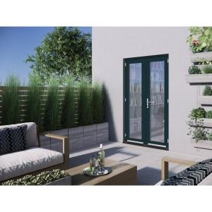 JELD-WEN Bedgebury Hardwood French Doors Grey Finish - 4ft