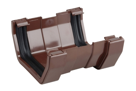 Osma SquareLine 4T809 Gutter Union 100mm Brown