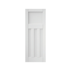 3 Panel Primed Interior Deco Step Profile Door