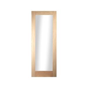 Oregon Shaker 1 Light Obscure Glazed White Oak Door