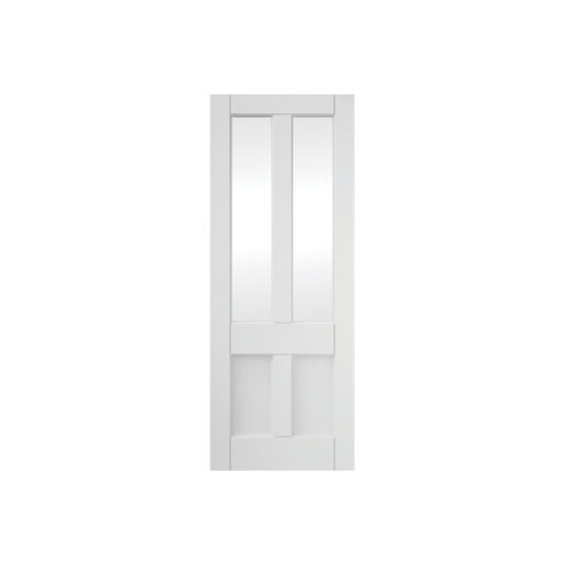 4 Panel Clear Glazed Primed Interior Deco Door 686mm