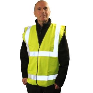 Armour Up HI-VIZ Yellow Safety Vest Large