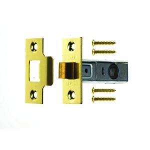 4Trade Tubular Mortice Latch 64mm Brass