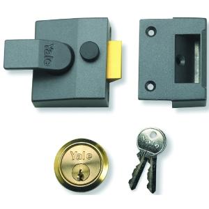 Nightlatch Narrow Dmg/Polished Brass Yale P85