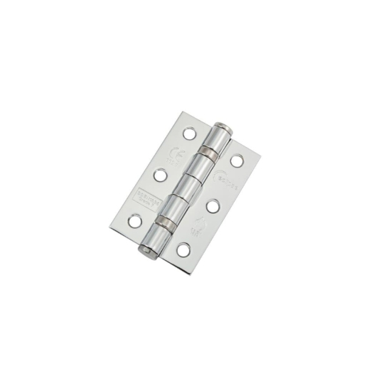 Eclipse 14102 Mild Steel Ball Bearing Hinge Grade 7 Polised Chrome 76 x 51 x 2mm 2 Pack