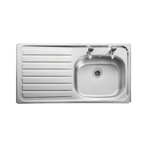 Leisure Lexin 2 Tap Inset Stainless Steel Left Hand Drainer Kitchen Sink LE95L
