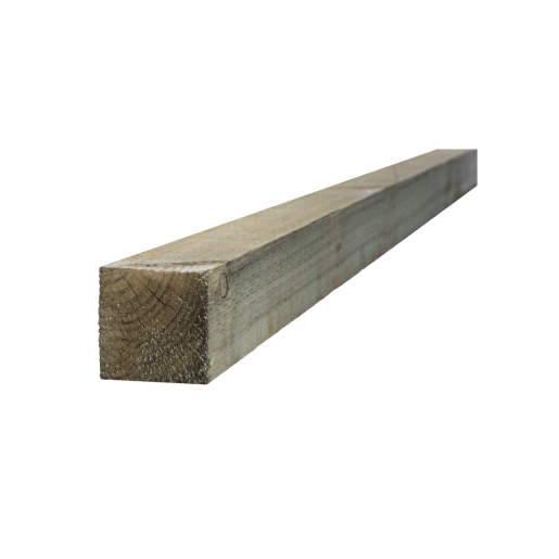 Incised Treated UC4 Fence Post Green 75mm x 75mm x 3000mm