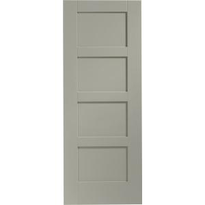 Internal Fully Finished Shaker 4 Panel Door (Slate)