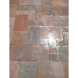 Bradstone Natural Sandstone Patio Pack Brown Mix 15.84m2