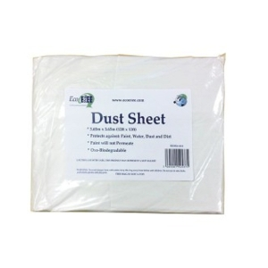 Eco Ezee Biodegradable Dust Sheet 3.65m x 3.65m - 10 Pack