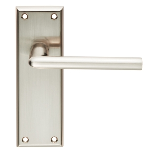 4FIREDOORS Vogue FS961 Lever Handle On Back Plate Satin Nickel