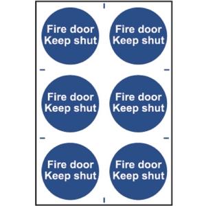 Spectrum Fire Door Keep Shut (Regular) Pack of 6