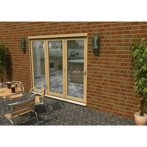 Travis Perkins 54mm Unfinished External Sliding Folding 2400mm Door Set