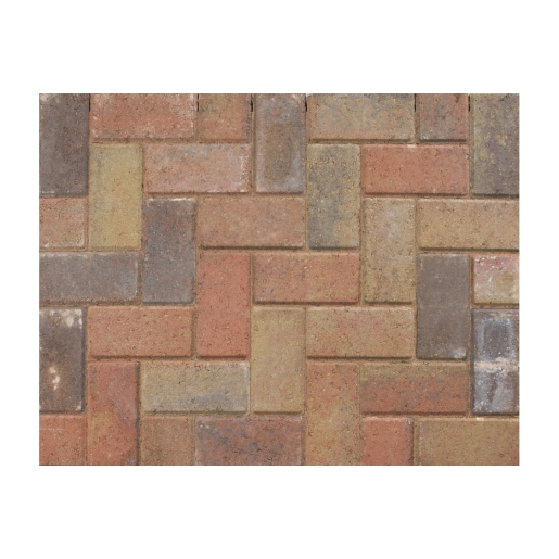Marshalls Driveline 50 Ochre Block Paving Burnt - 200mm x 100mm x 50mm - Pack of 488