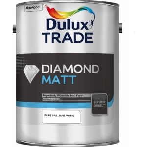 Dulux Diamond Matt Pure Brilliant White 5L