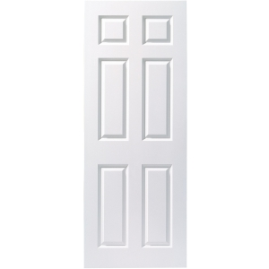 Internal 6 Panel Smooth 30 Min Fire Door 1981 x 838 x 44mm