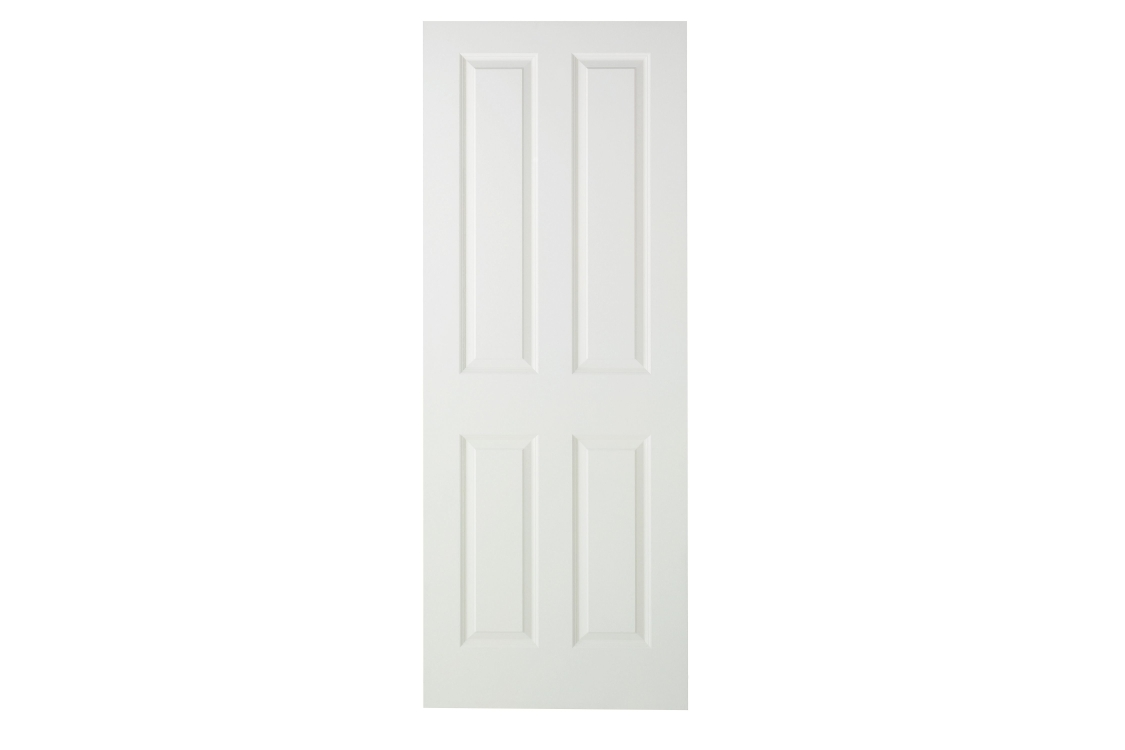 Moulded 4 Panel Smooth Midweight Internal Door 1981mm x 762mm x 35mm