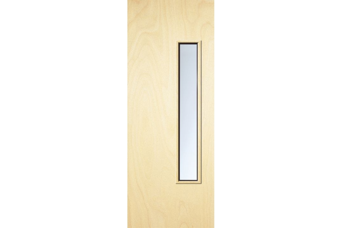 Internal Plywood Flush 30 Min Fire Glazed Door 18 g Glazed Georgian 1981 mm x 838 mm x 44 mm