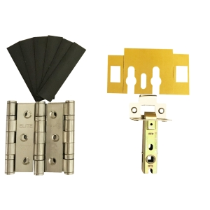 4FIREDOORS Fire Door Grade 7 Hinge & Latch Pack Stainless Steel