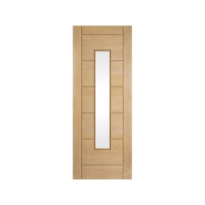 Jeld-wen Oregon Ladder Obscured Glazed Interior White Oak Door 1981x610mm