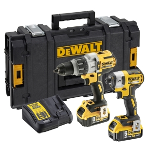 DeWalt 18V Xr Brushless Combi Drill & Impact Driver Twin Pack DCK276P2-GB