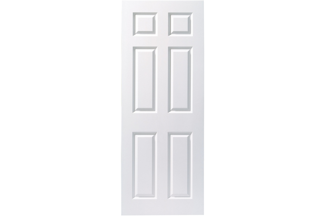 Internal 6 Panel Smooth 30 Min Fire Door 1981 mm x 762 mm x 44 mm