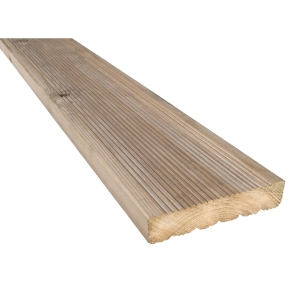 Travis Perkins Treated Timber Decking Board 35mm x 148mm (Finished Size 32mm x 144mm)