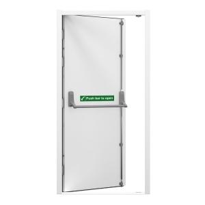 Lathams Fire Escape Steel Door Right Hand 845 x 2020mm