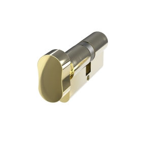 Mila Prolinea Knob Cylinder 35/35 Polished Brass Anti-drill
