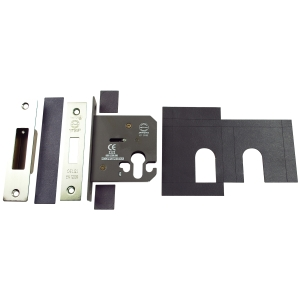 Deadlock Euro Profile Includes Plates Stainless Steel 76mm FD024