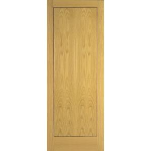 Flush Oak Veneer 1 Panel Internal Door