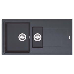 Franke Titan 1.5 Bowl Inset Black Composite Kitchen Sink