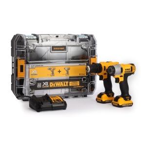 DeWalt 12V Cordless Compact Drill Driver & Impact Driver Twin Pack 2 X 2Ah Li-Ion Batteries DCK211D2T