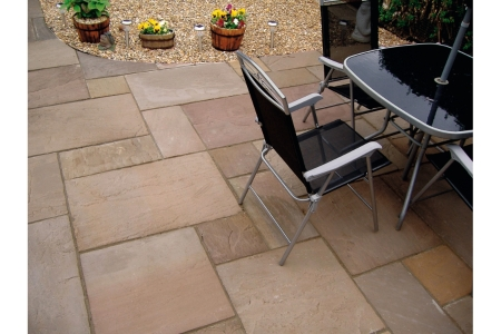 Natural Paving Indian Classicstone Sandstone Project Pack Brown 15.8m2