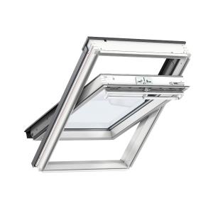 VELUX INTEGRA® Electric Centre Pivot Roof Window 1340mm x 1400mm White Painted GGL UK08 207021U