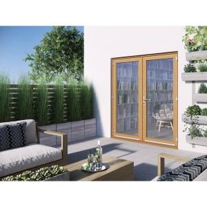 JELD-WEN Kinsley Hardwood French Doors Golden Oak Finish - 6ft