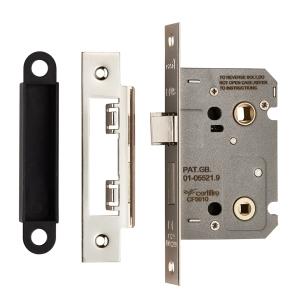 4FIREDOORS FS9670 Mortice Bathroom Lock Satin Nickel 64mm