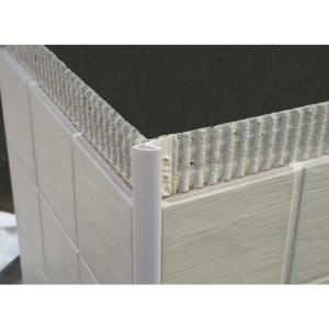 Genesis 8mm White Round Edge Tile Trim ETR808.01
