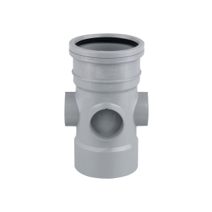 OsmaSoil 4S590G 110mm Ring-Seal/Solvent Weld Bossed Pipe Grey