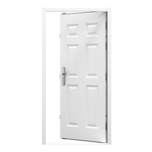 Lathams 6 Panel Steel Door 845 x 2020mm Rh Inward