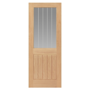 Jb Kind Oak Internal Suffolk Glazed Half Light Door 1981 x 686 x 35mm 27 in
