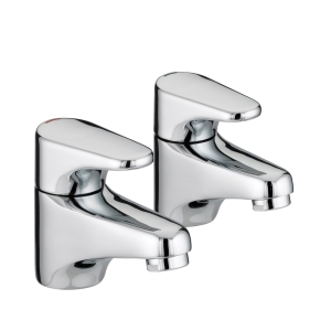 Bristan Jute Basin Taps Chrome JU1/2C