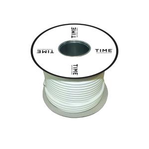 Time 3095Y 0.75mm 5CORE Heat Resistant Flex Cable White 50m