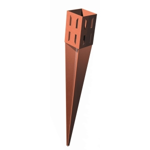 Metpost Wedge Grip Drive Fence Support Spike 75mm x 75mm x 600mm 1106
