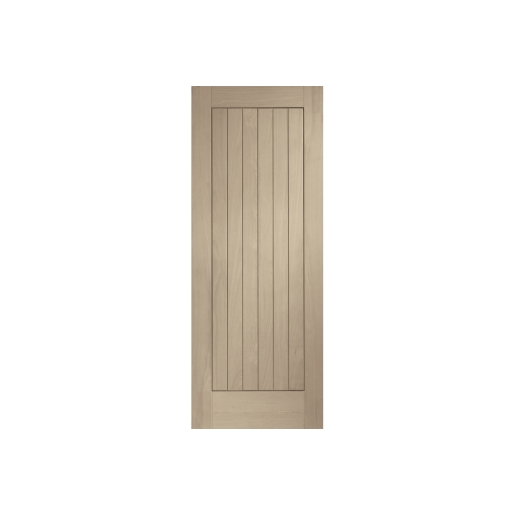 Travis Perkins Internal Fully Finished Suffolk Door Latte Stain 1981 x 762 x 35mm 30in