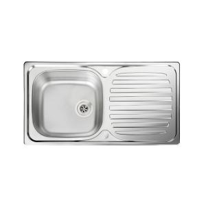 Rangemaster Euroline Compact 1 Bowl Inset Stainless Steel Kitchen Sink