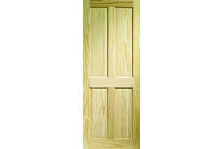 Internal Softwood Clear Pine 4 Panel Door 1981 mm x 762 mm x 35 mm
