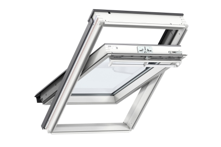 VELUX Conservation Centre-pivot Roof Window and Flashing White 780mm x 1400mm GGL MK08 SD5N2