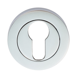 Carlisle Brass Escutcheon Euro Profile On Concealed Fix Round Rose Polished Chrome